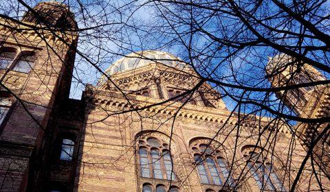Synagoge von unten